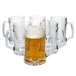 6er Set Vivalto Biergläser 380 ml  I geschliffene Kristallglas-Optik