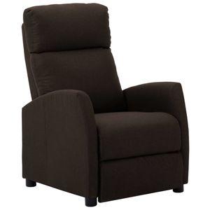 【Neu】Sessel Liegesessel Dunkelbraun Stoff Gesamtgröße:67 x 86 x 100 cm BEST SELLER-Möbel-Stühle-Sessel im Landhaus-Stil