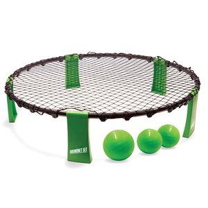 Roundnet Set, komplettes Set für den sofortigen Start, inkl. 3 Bälle, Ballpumpe und Tragetasche, ultimativer Spaßfaktor für Jung und Alt