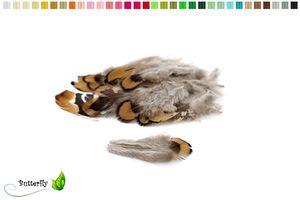 20 Fasanenfedern ca.5-8cm Natur, Farbauswahl:natur gelb