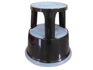 Rollhocker Q-Connect aus Metall - Gewicht 5 kg, Farbe:schwarz