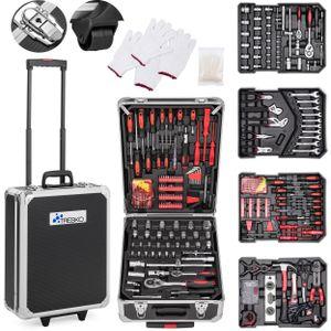 TRESKO 949 tlg Werkzeugkoffer Anthrazit Werkzeugkasten Werkzeugbox Werkzeugkiste Trolley Set