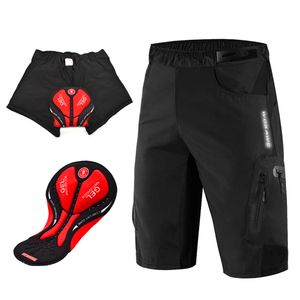2 in 1 Radfahren Baggy Shorts Loose Fit Half Pants mit Gel gepolstertem Liner XL Schwarz Gepolsterte Loose Fit Shorts