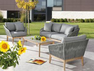 BEST 4-tlg. Lounge Gruppe Madagaskar Grandis/grau, 99141067 braun