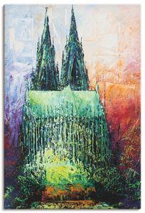 ARTland Leinwandbilder Kölner Dom 2 Leinwandbild auf Keilrahmen Größe: 60x90 cm