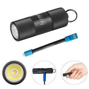 OLIGHT I1R 2 EOS / I1R II EOS Schlüsselanhänger Taschenlampe CSP LED 150 Lumen Kleine Mini Taschenlampen USB Wiederaufladbare Schlüsselbund Taschenlampe mit Batteriefach + USB Ladekabel (Schwarz)