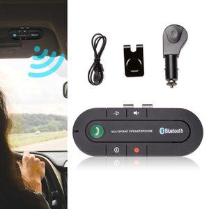 karpal Bluetooth Freisprecheinrichtung Kfz Freisprechanlage Auto Bluetooth V4.2 Sonnenblende Car-Kit fuer GPS,Musik,Rufen Sie