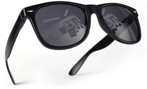 Nerd Sonnenbrille Schwarz Schwarz