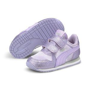 Puma Cabana Racer Glitz Inf Infant Kinder Baby Schuhe Sneaker, Größe:EUR 23 / UK 6 / 14.5 cm, Farbe:Lila (Light Lavender)