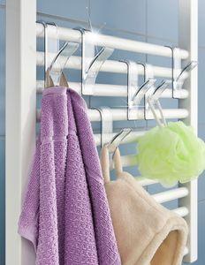 Haken für Handtuchheizkörper Transparent, 2er Set