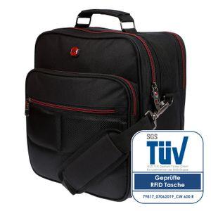 Arbeitstasche Umhängetasche Messenger Flugbegleiter Tasche Herren RFID Schutz