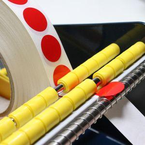 TE-Office 1000 Stück Runde Klebepunkte Rolle Bunt Markierungspunkte Aufkleber Punkte Gelb 13mm