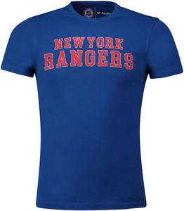 Fanatics - NHL New York Rangers Graphic Wordmark T-Shirt - Blau : M Blau Farbe: Blau Größe: M