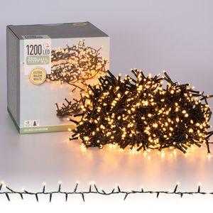 weihnachtsbeleuchtung 1200 Led 24 Meter weiß (extra warm)