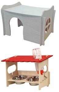 Sparpack Nagerhaus RICKY + Futterstation SNACKBAR LARGE inkl. Nagertränke