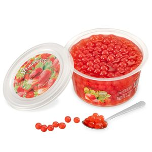 Popping Boba Fruchtperlen für Bubble Tea, Erdbeere, 450 Gram