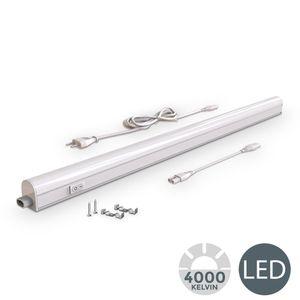 LED Unterbauleuchte I Lichtleiste I 87,3cm I 15W I 1200lm I 4.000K neutralweiß I erweiterbar durch Stecksystem I B.K.Licht