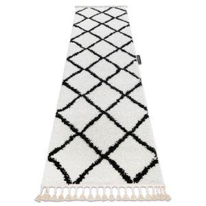 Teppich, Läufer BERBER CROSS weiß - in die Küche, Halle, Korridor Weiß 80x300 cm