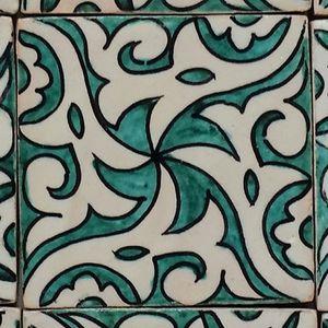 Casa Moro Orientalische Keramikfliese Hiyam grün 10x10 cm handbemalte marokkanische Fliese Wandfliese für schöne Küche Dusche Badezimmer   FL7121