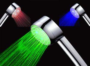Temperaturgesteuerter Led Duschkopf   Design Duschbrause Handbrause   ***LED beleuchtet in blau, rot und grün*** FUNKTIONIERT OHNE BATTERIEN!