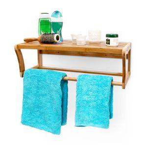 relaxdays Badregal mit Handtuchhalter