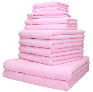 Betz 12-tlg. Handtuch-Set PALERMO 100% Baumwolle,  Farbe  rosé