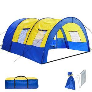 tectake Tunnelzelt - blau/gelb