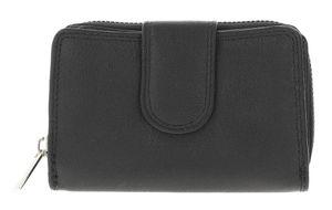 Geldbörse Damen, StyleNo 1219 - Echtleder und RFID-Schutz, Farbe:Black (Schwarz)