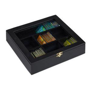 relaxdays Teebox aus Holz