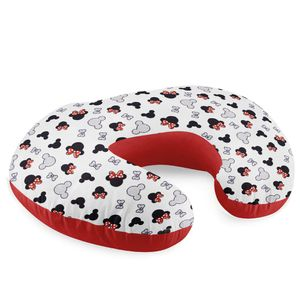 Stillkissen klein Stillhörnchen kleines Still Kissen Baby Lagerungskissen Nursing Breastfeeding Pillow für unterwegs Rot/Weiß mit Mäusen