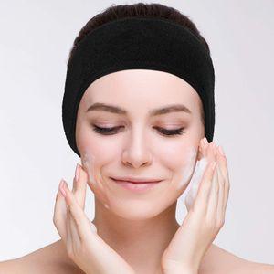 2 Pack Kosmetik Stirnbänder Spa Haarband Make Up Stirnband Frottee Verstellbare Haarschutzband für Sport Yoga Bad Gesichtsreinigung