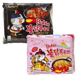 Samyang Hot Ramen Nudeln (Combo 5er Pack Hot Chicken Ramen Käse & 5er Pack Carbonara)