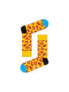 Happy Socks Lips Damen Socken, Farbe:Gelb, Größe:36-40