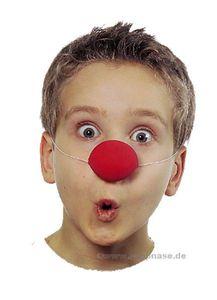 Kostüm Zubehör Latex Clownnase rot für Kinder Karneval Fasching