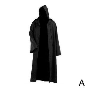Schwarzer Mantel (A) XXL $ cos Halloween Star Wars Jedi Knight Anakin Umhang Mantel Cosplay Gewand Fleck