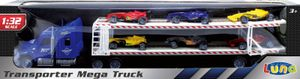 Luna Autotransporter 57cm LKW Lastwagen Mega Truck mit 6 Autos Formel 1 +3J