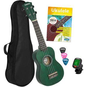 Cascha HH 3972 EN Soprano Ukulele Pack (English, Green)