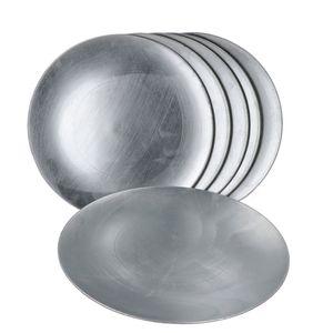 6x Platzteller Silber Weihnachten Tisch-Unterlage Deko-Accessoire Platz-Set