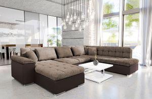 Mirjan24 Ecksofa Niko Bis, Bettkasten und Schlaffunktion, Sofa vom Hersteller, Wohnlandschaft, Polstergarnitur (Soft 066 + Lawa 02, Seite: Links)