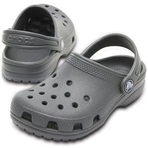 crocs Kinder Sport-Freizeit-Clog Schuhe Schwimmbad Kids' Classic Clog grey grau, Größe:32-33