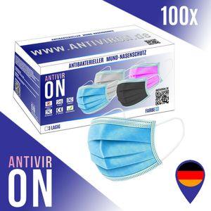 ⭐⭐⭐⭐⭐ Antiviron Einwegmaske 100 Stück CE-7503 Farbe Blau