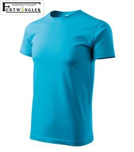 T-Shirt türkisblau Kindershirt Größe 122 / 6 Jahre Classic 145g/m² verstärkte Schulterpartie Baumwolle