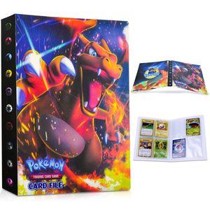 Pokemon Sammelalbum, Pokemon Karten Album Pokemon Karten Halter Ordner Buch GX EX Trainer Sammelkartenalben