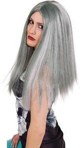 Orlob Horror Witch, grau-meliert, Fancy dress wig, Erwachsene, Frau, Grau, 1 Stück(e)