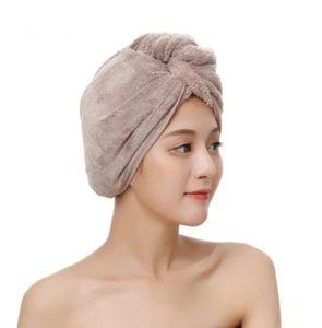 Haarturban Handtuch, Turban Haartrockentuch, Knopf Haarturban, Kopftuch Handtuch für Lange Haar, Schnelltrocknend Mikrofaser