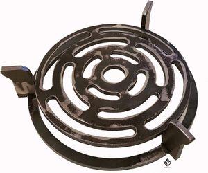 Wok- und Pfannenhalterung mit Grillrost für Feuerplatte mit 20cm Feuerloch