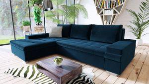 Mirjan24 Ecksofa Bangkok Mini, Moderne Eckcouch für Wohnzimmer, Schlaffunktion und Bettkasten, Gästezimmer, L-Form Sofa (Kronos 09 + Kronos 09 + Paros 5)