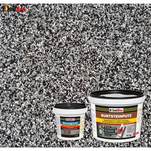 Isolbau Buntsteinputz SET Mosaikputz BP30 (schwarz, grau, weiss)  15 kg +Quarzgrund 1,5 kg