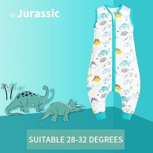 Baby Schlafsäcke Sommer mit Füßen 0.5 Tog Baumwolle Sommerschlafsack mit Beinen Babyschlafsäcke 65-80 cm