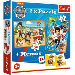 Trefl 2in1 Puzzle und Memo - Paw Patrol